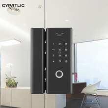 CYPATLIC Fingerprint Glass Door Lock Electronic Smart Locks Password Card For Home Office Anti-theft