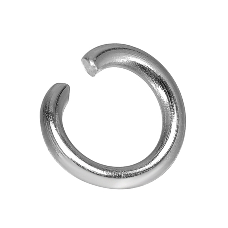 DoreenBeads Dull Dilver Color Stainless Steel Open Jump Rings Jewelry Accessories 6mm(1/4