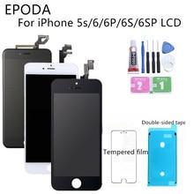 グレードaaa + + + iphone 6 6s 7 3D力8プラスlcdタッチスクリーンデジタイザアセンブリのためのiphone 5s表示デッドピクセル