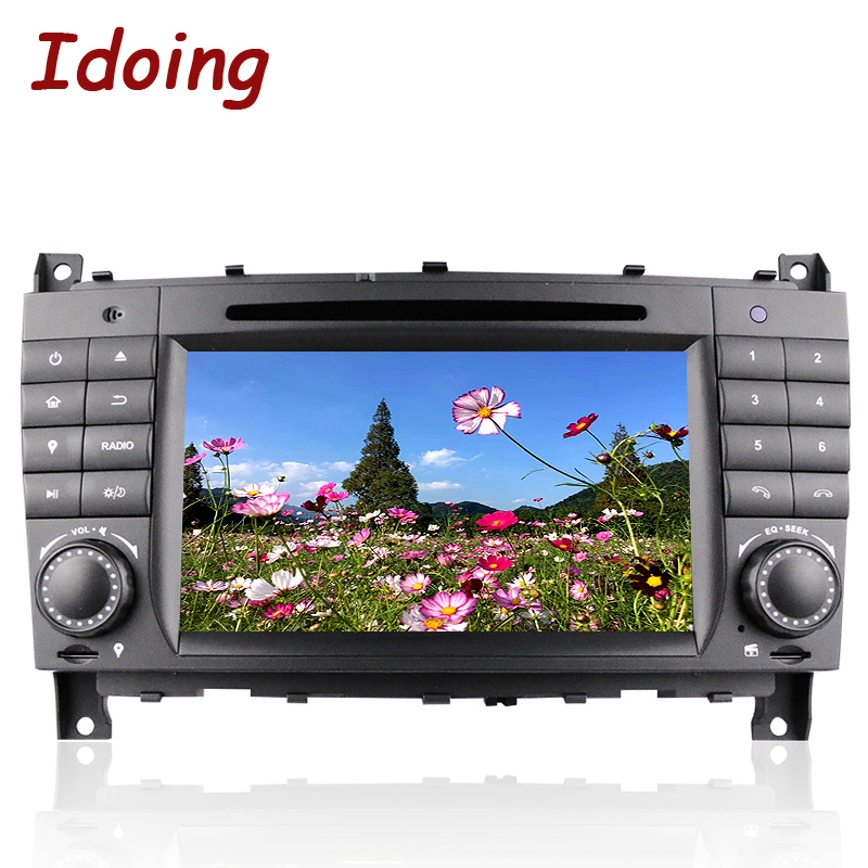 Idoing 2Din Android7.1 For Mercedes Benz W209/203 Car Radio DVD Multimedia Player GPS Navigation Bluetooth TV 3G WIFI Radio OBD