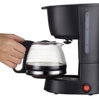 600ml Semi automatic Mini Coffee Maker American Drip Coffee Machine For Tea Coffee With Filter Net Heat Preservation Plate