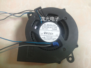 SF6023BLHH12-07E DC 12V 280MA 60x60x23mm 3-wire Server Projector Fan
