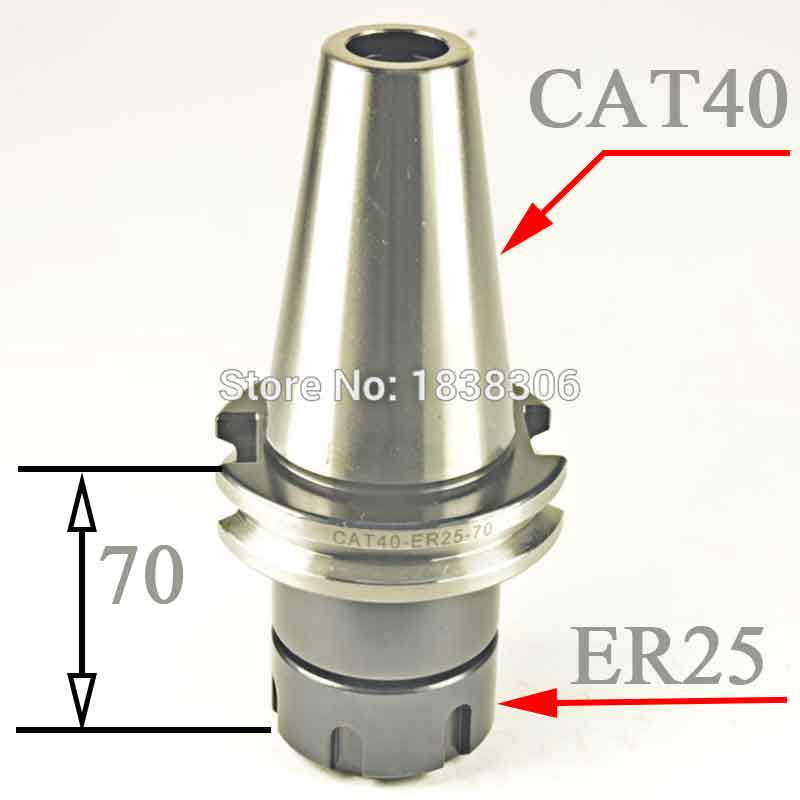 Collet ER Drill Chuck ER25 Tool Holder CAT40 Taper Toolholder Milling Cutter   1pcs For CNC Machine Cutting tools 1 pcs din2080 nt30 er16a 35 collet chuck holder for cnc milling lathe tools