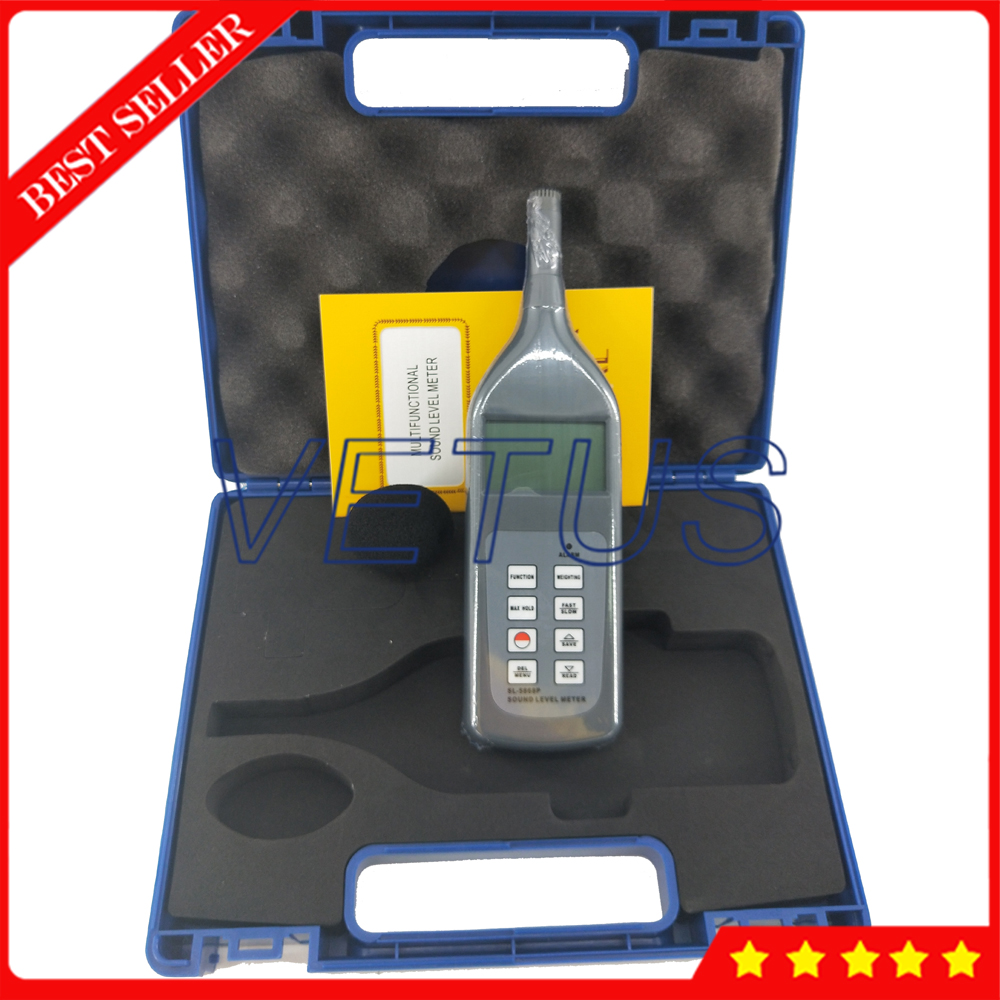 Testeur de sonomètre numérique SL-5868P testeur de sonomètre avec résolution 0.1dB 4 paramètres de mesure