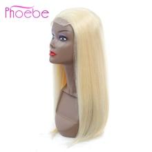 Phoebe волосы 4*4 перуанские прямые человеческие волосы парики блонд полный 613 цвет U часть Швейцарский парик шнурка для женщин remy волосы без запаха