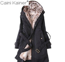 2e5a9865c7f5 Womens Faux Fur Lined Parka Cotton clothing Winter Hooded Long Jacket plus  size snow wear coat large fur thickening outerwear
