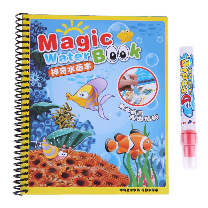 Hot Baby Forest Magic Water Drawing Cloth Book Baby Painting Doodling Water Drawing Mats Toys Repeat Painting for Children