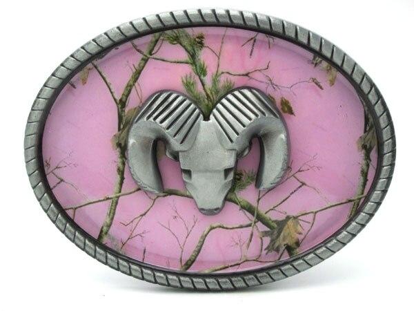 Oválná růžová maskovací přezka na kozu
