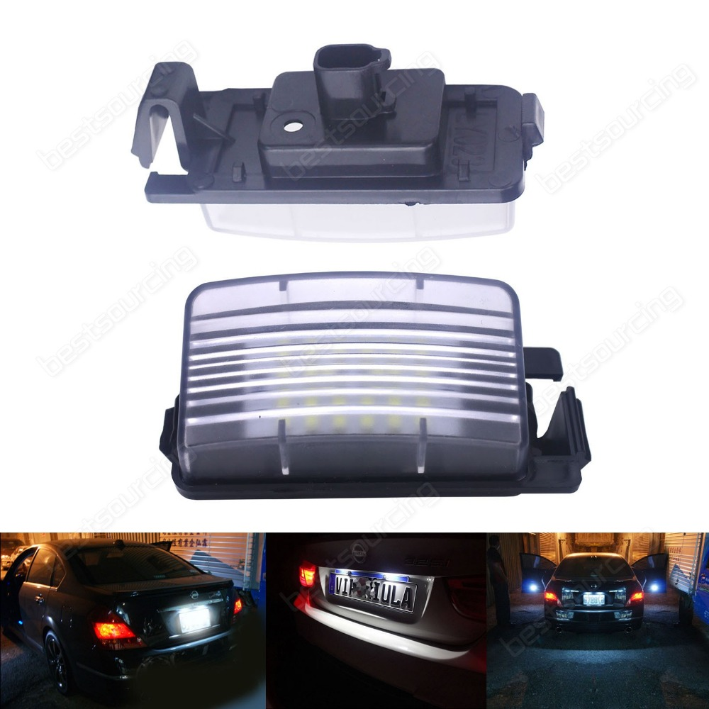 LED Licence Number Plate Light For Nissan 370 Z R35 GT-R Cube Tiida Infiniti G37(CA157)