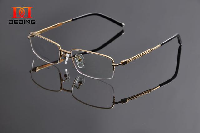 Deding высокое качество мужские титановые очки бизнес прозрачные линзы миопия очки кадр Armacao de óculos де грау Masculino DD0952