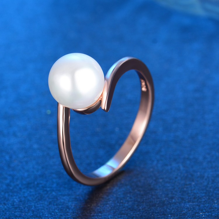 Hot Sell Imitation Shell Pearl 925 Sterling Silver Ladies Ring