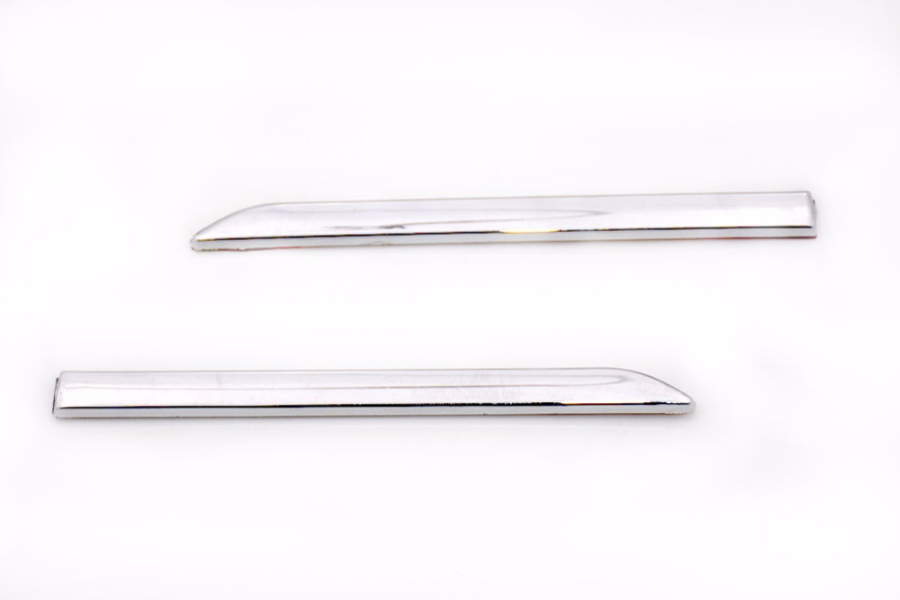 1 Pair Chrome Fender Strip Trim Moulding Molding Garnish