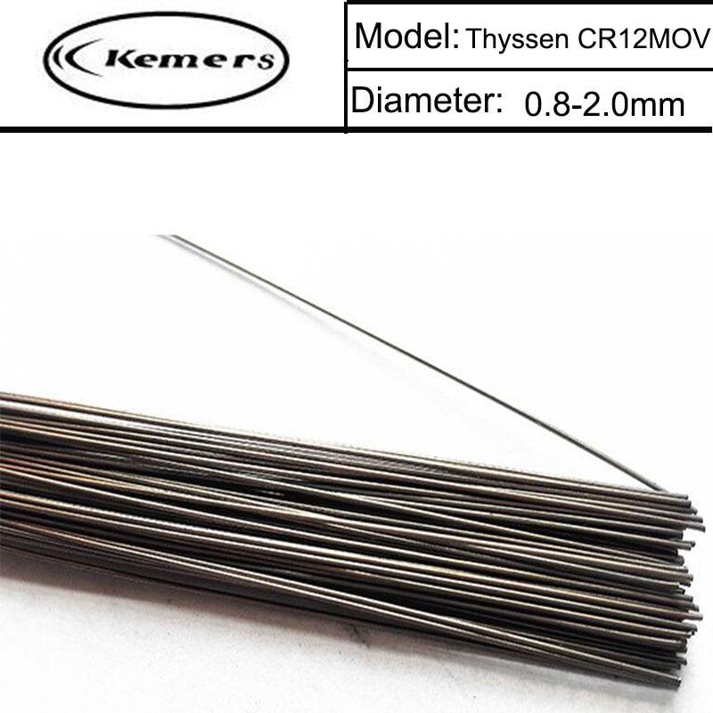 1KG/Pack GM Mould Welding wire Thyssen CR12MOV for Welders (0.8/1.0/1.2/2.0mm) T012013 professional welding wire feeder 24v wire feed assembly 0 8 1 0mm 03 04 detault wire feeder mig mag welding machine ssj 18
