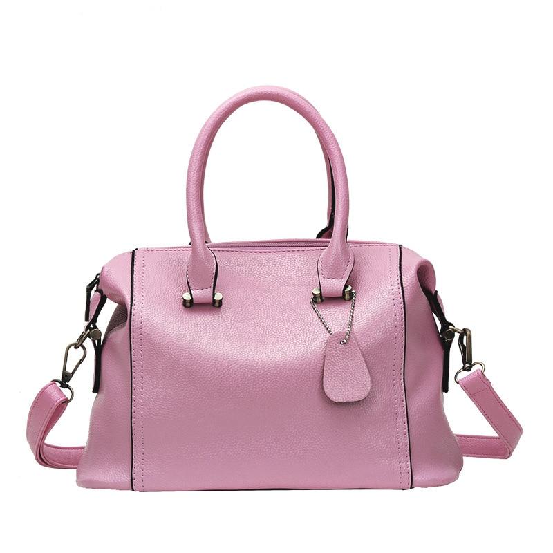 ФОТО New Arrival Boston Handbag High Quality Women Bag Famous Brand Vintage Handbag bolsos 5 Colors