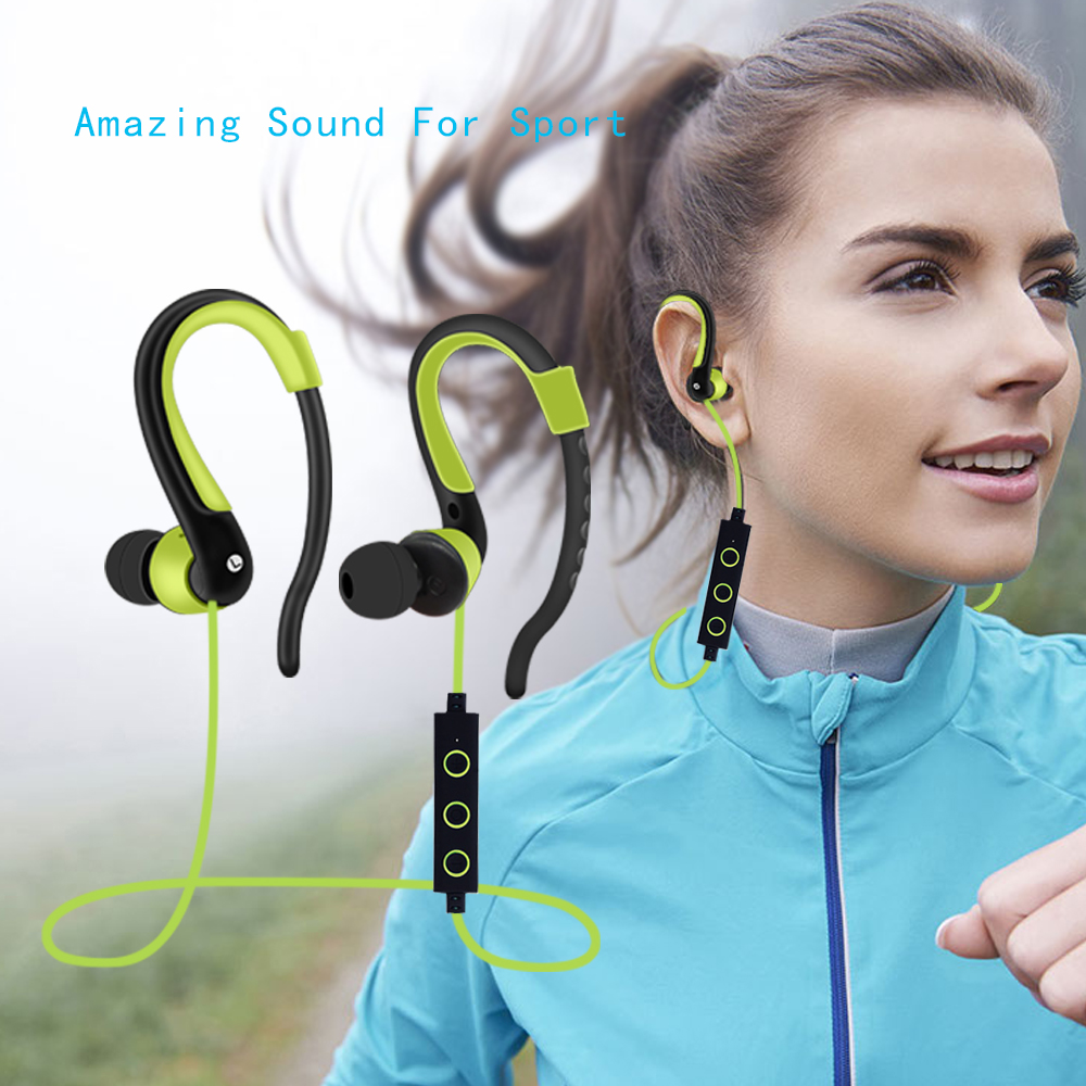 BT-008 Waterproof Bluetooth Headset Sport Earphone Ear Hook Style With Mic Handsfree For Android/IOS Smartphone iphone  xiaomi boas car driver bluetooth earphone wireless handsfree handphone base charger dock in ear hook headset with mic for iphone xiaomi