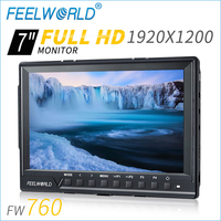 Feelworld FW760 7 Inch Field Monitor 1920 1200 External 1080P 4K Compatible Video Camera LCD Monitor
