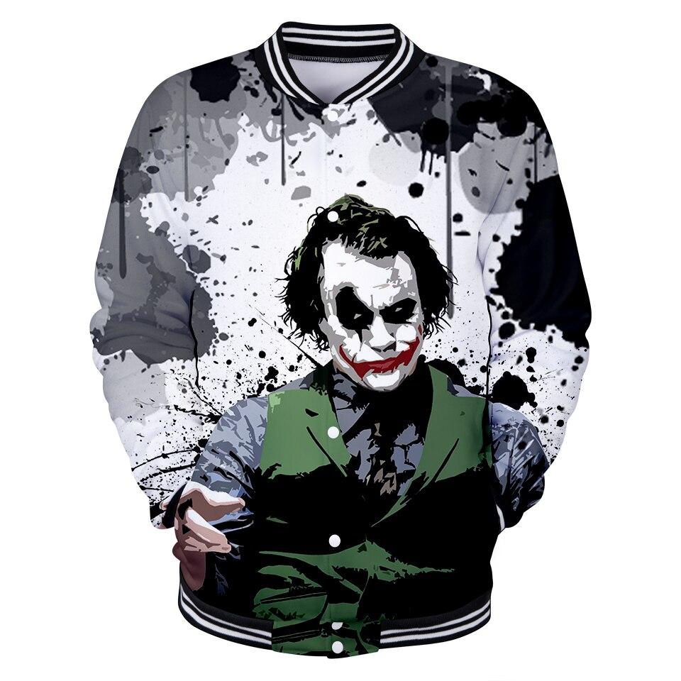 Clowns New 3D Print Baseball Jacket Heroes Anime Men/women Plain Spring Baseball Jackets Fashion Collage Clothes