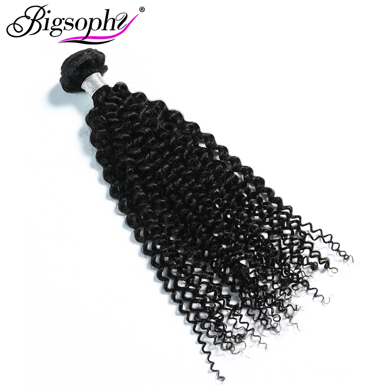Bigsophy Malaysian Hair Weave Bundles Human Hair Bundles Kinky Curly 4pcs Deal Remy Hair Extensions Natural Color Can Dye&Bleach