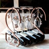 Iron wine cup holder Wine iron frame European fashion cup holder goblet frame upside down
