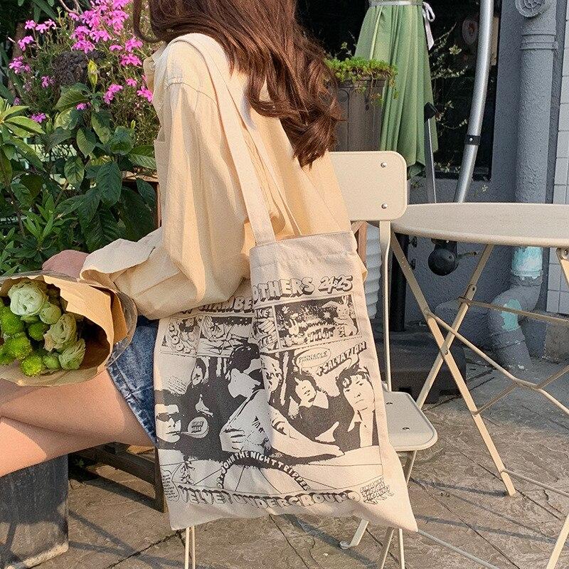 8a79604b63a3 Женская Холщовая Сумка через плечо Анри Матисс печать картин Женская  хозяйственная сумка Feminina простая эко одежда