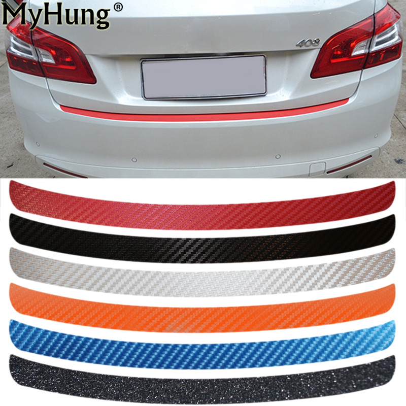 For Peugeot 408 2014 To 2016 Trunk Boot Protecting Bumper Plate Molding Lid Outside Carbon Fiber Car Stickers Car Styling 1sheet matte surface 3k 100% carbon fiber plate sheet 2mm thickness