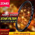 NEW ZOMEI Professional star filter 82mm 6 point star-effect Starburst for Canon EOS Nikon Sony Camera Len