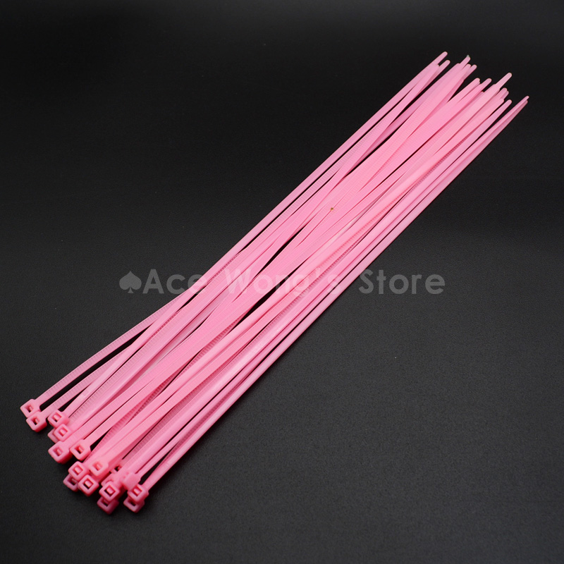 400 Pcs//Pack 4*150mm Nylon 66 Vehicles Motorcycles Self-Locking Cable//Wire Ties