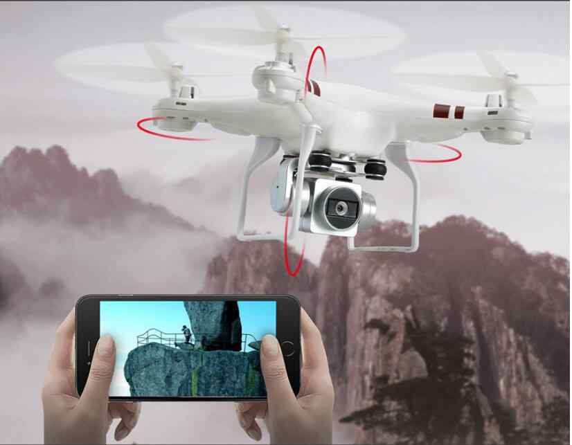 Drone dengan Kamera 720 P HD 0.3 W Putih Hover Vs SYMA X52 RC Drone Full HD Camera RC Quadcopter profesional Vs DJI Phantom 3