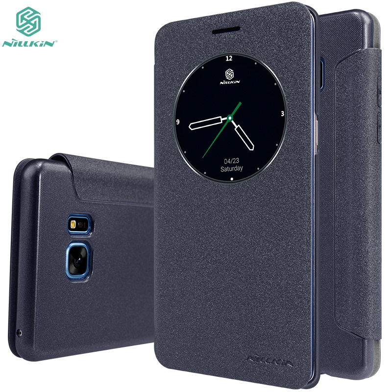 Case For Samsung Galaxy Note 7 / Note 7FE NILLKIN Sparkle Flip Leather Cover Case For Galaxy Note 7 FE with Sleep Function