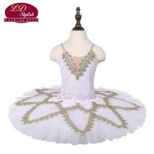 Girls White Ballet Tutu Swan Performance Stage Wear Children Dance Competition Costumes Women Skirt Apperal
