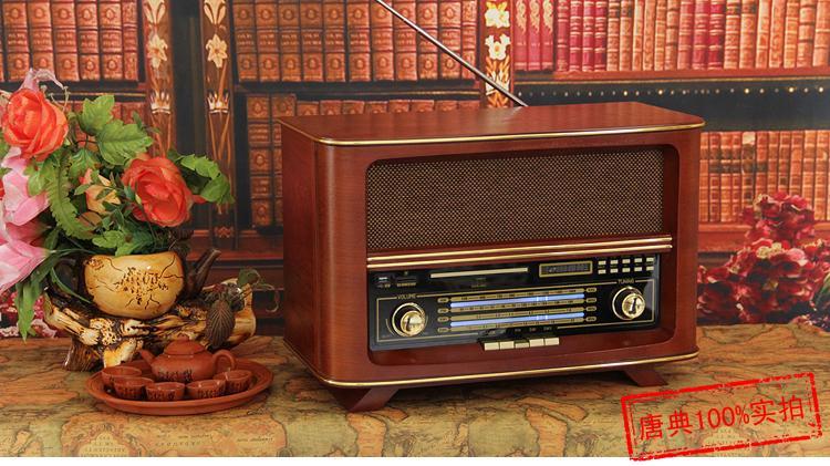 Wooden Classical CD font b player b font FM Radio font b MP3 b font SD