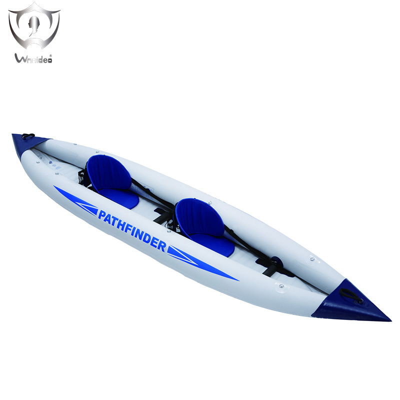 Wnnideo Single double Canoes Inflatable PVC Rubber Boat River Stream Lake Rafting Rowing Boat with Paddles 400*90 cm ZF6-2902