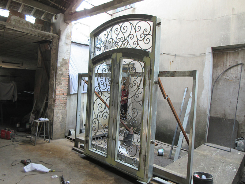 Hench 100% Steel Metal Iron Timber And Wrought Iron Entrance Doors