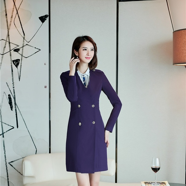 Autumn Winter Long Sleeve Dresses Formal Slim Ol Styles Double