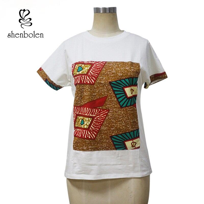 Qadınlar üçün Afrika paltarları Yay Moda Pambıq Çap batik - Milli geyimlər - Fotoqrafiya 4