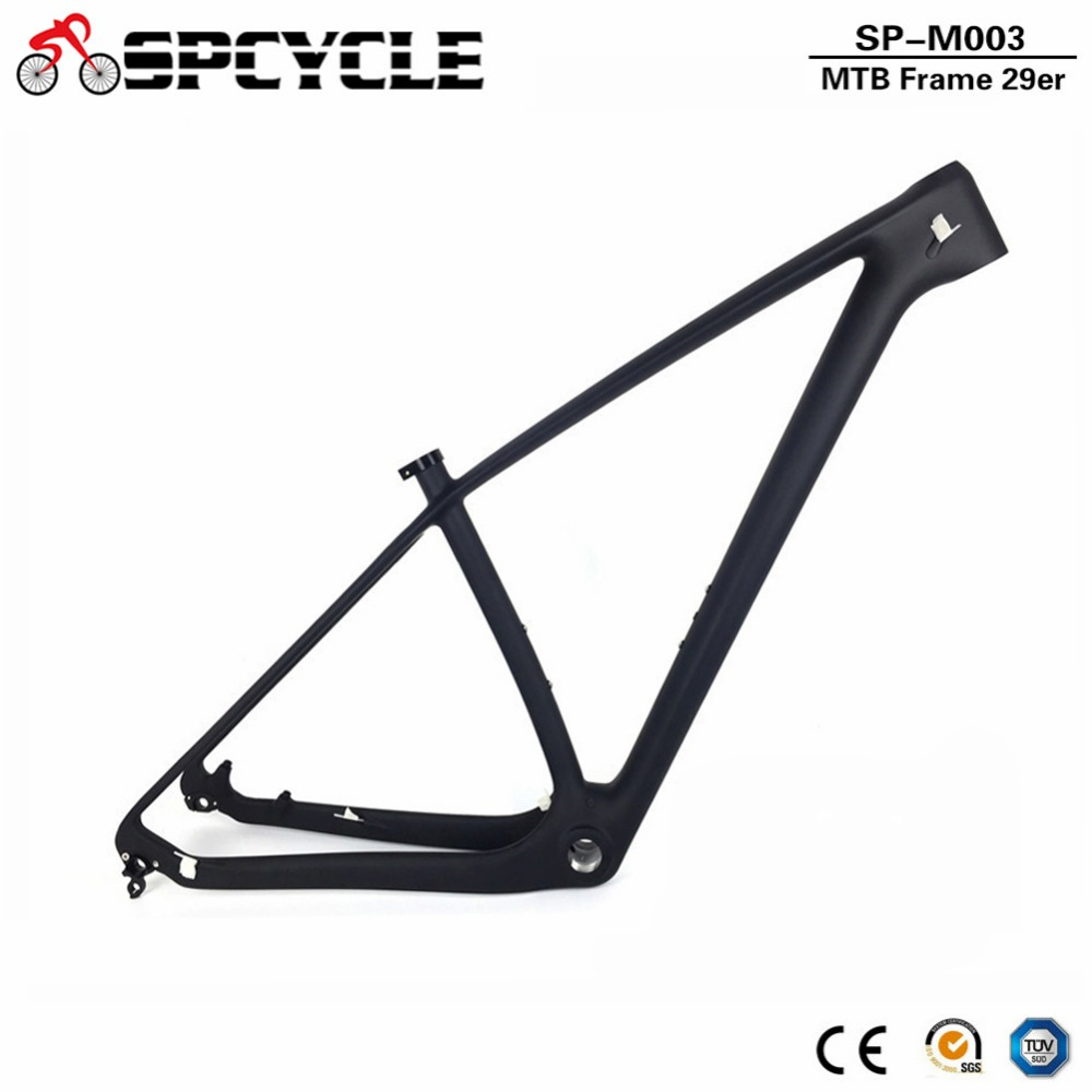 Spcycle 27.5er 29er T1000 Carbon MTB Frame 650B Mountain Bike Carbon Frame UD Black 142*12mm Thru Axle And 135*9mm QR FramesetSpcycle 27.5er 29er T1000 Carbon MTB Frame 650B Mountain Bike Carbon Frame UD Black 142*12mm Thru Axle And 135*9mm QR Frameset