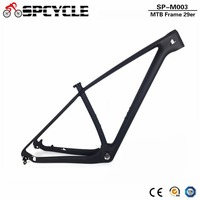 Spcycle 27.5er 29er T1000 Carbon MTB Frame 650B Mountain Bike Carbon Frame UD Black 142*12mm Thru Axle And 135*9mm QR Frameset
