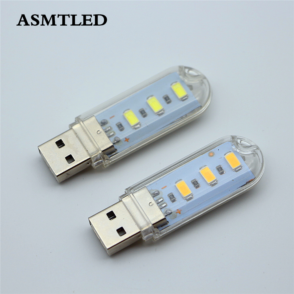 Portable Keychain Mini USB light 3 LEDs Night Light 5730 SMD Reading Led Lamp Book Bulb For Notebook Power Bank Computer Laptop hot sale multicolor usb led bulb dc5v 5w 10 led 5630 smd ball camp night light reading lamp for notebook laptop pc pure white