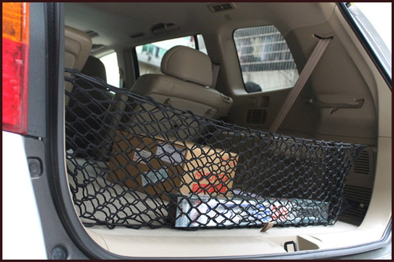 HOT New Car Nylon Elastic Mesh Net Car hatchback Rear Luggage Cargo Trunk Storage Organizer 12