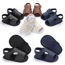 Для детей, младенцев, новорожденных мальчиков сандалии Летняя Детская воздухопроницаемая кожаная обувь