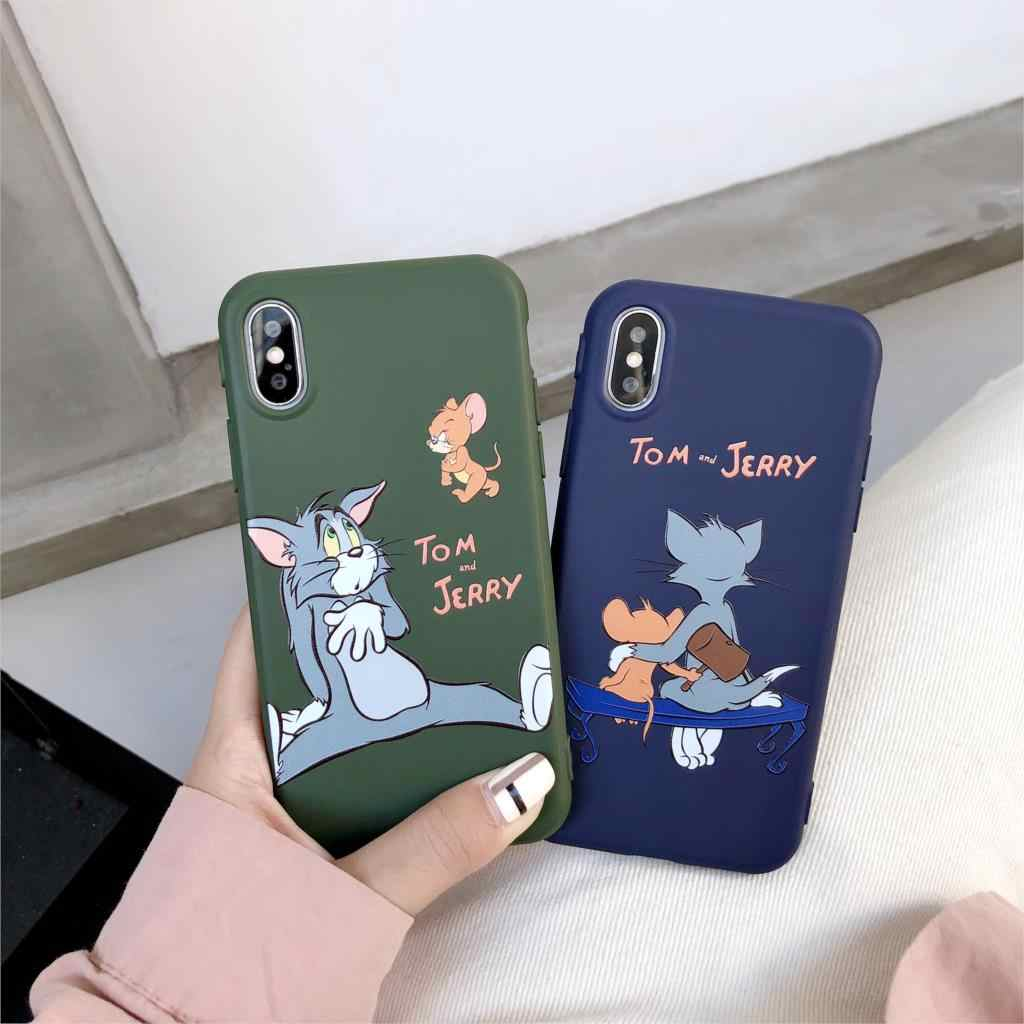 3D Relief Candy Couples Funda Cartoon Tom Cute Jerry Phone Case