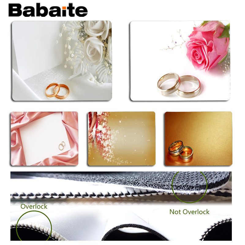 Babaite Wedding Customized MousePads Computer Laptop Anime Mouse Mat Size for 25x29cm Gaming Mousepads