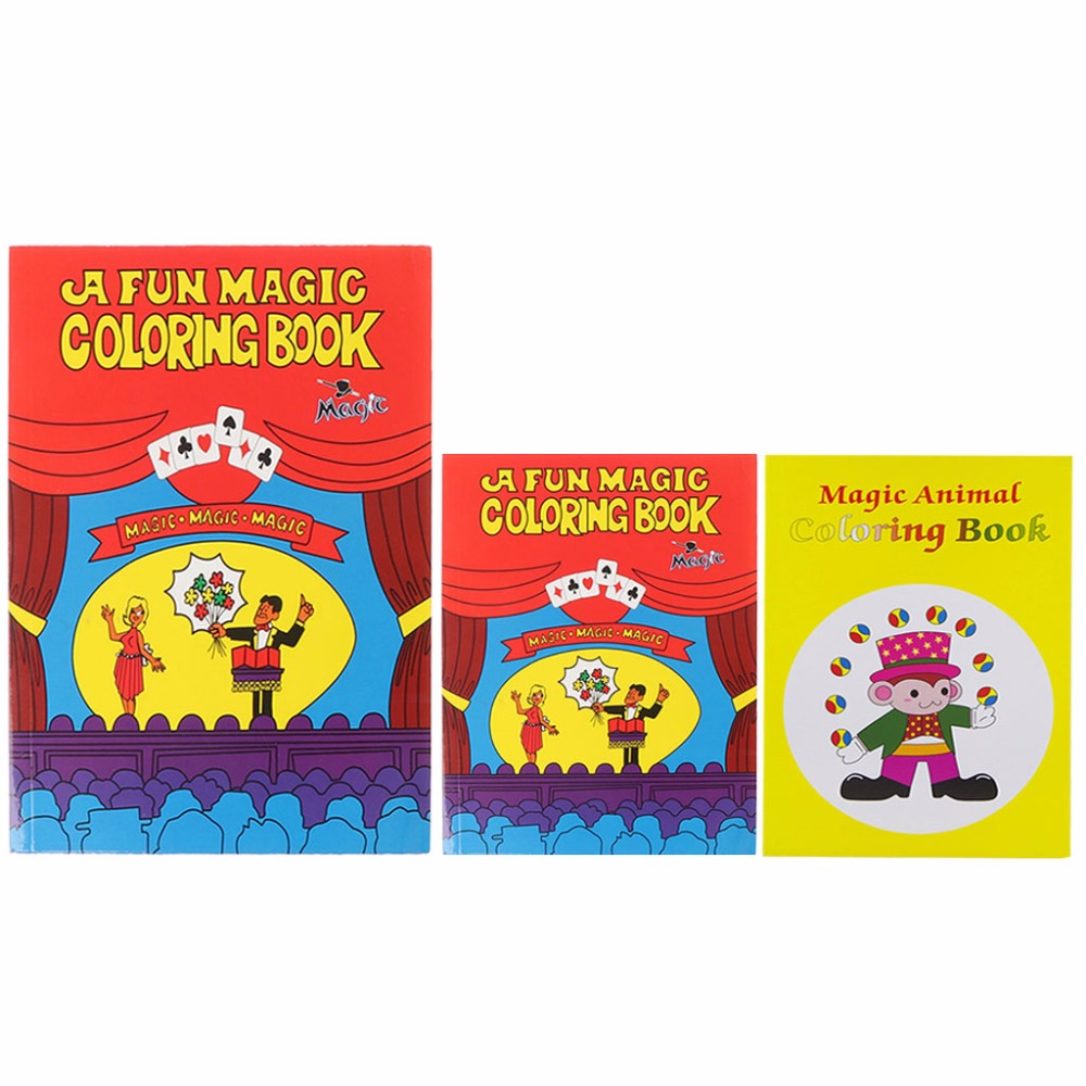 HBB Comedy Magic Coloring Book Magic Tricks Illusion Kids Toy Gift Funny Baby Toy