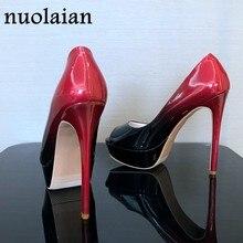 14 cm Super zapatos de tacón alto Mujer plataforma bombas charol verano plataforma  Sandalias Mujer tacones e89f52e45048