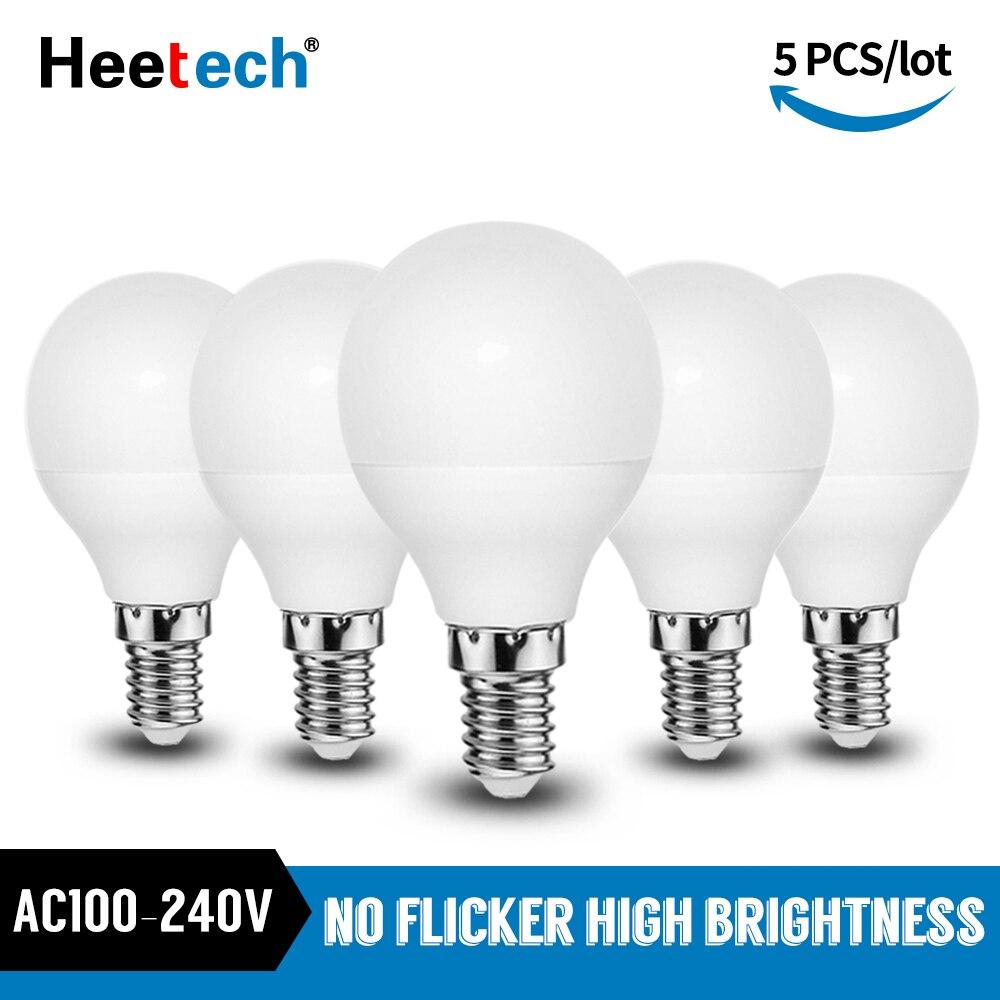 5pcs/lot LED Bulb E14 LED Lamp 3W 5W 7W 9W Lampada LED Bombillas Spotlight Table Lamps Cold/Warm White Led Light Blubs 110V 220V