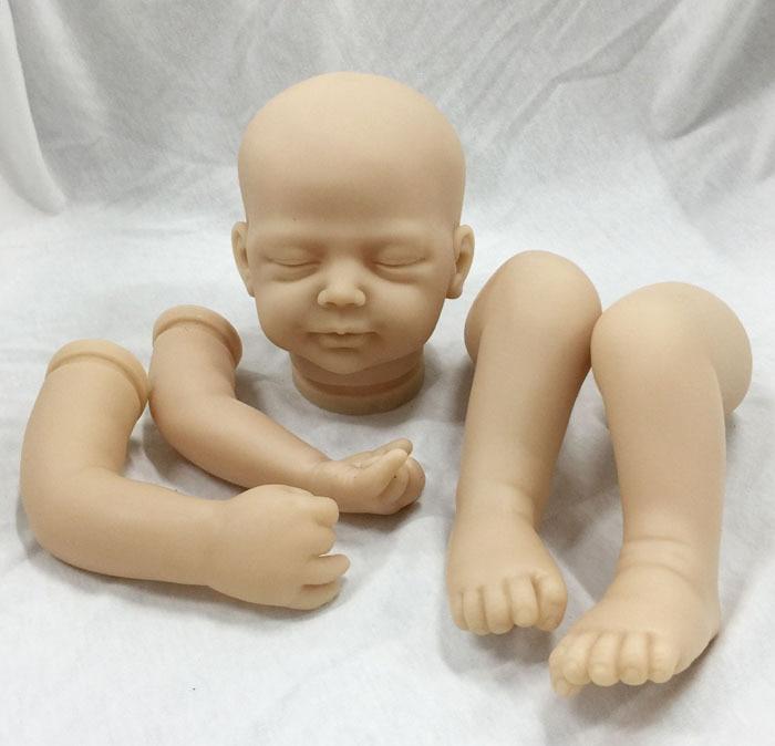Unpainted 20inch Reborn Doll Kits Handmade DIY Baby Doll Model
