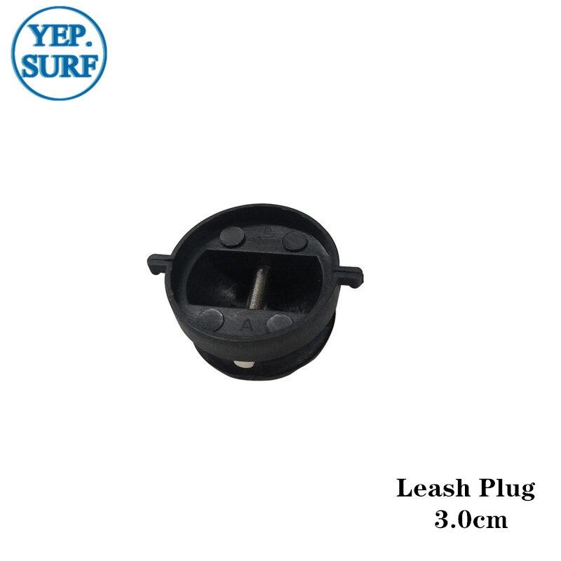 Surf Leash Plug Diâmetro 3.0 centímetros coleira cor Preta