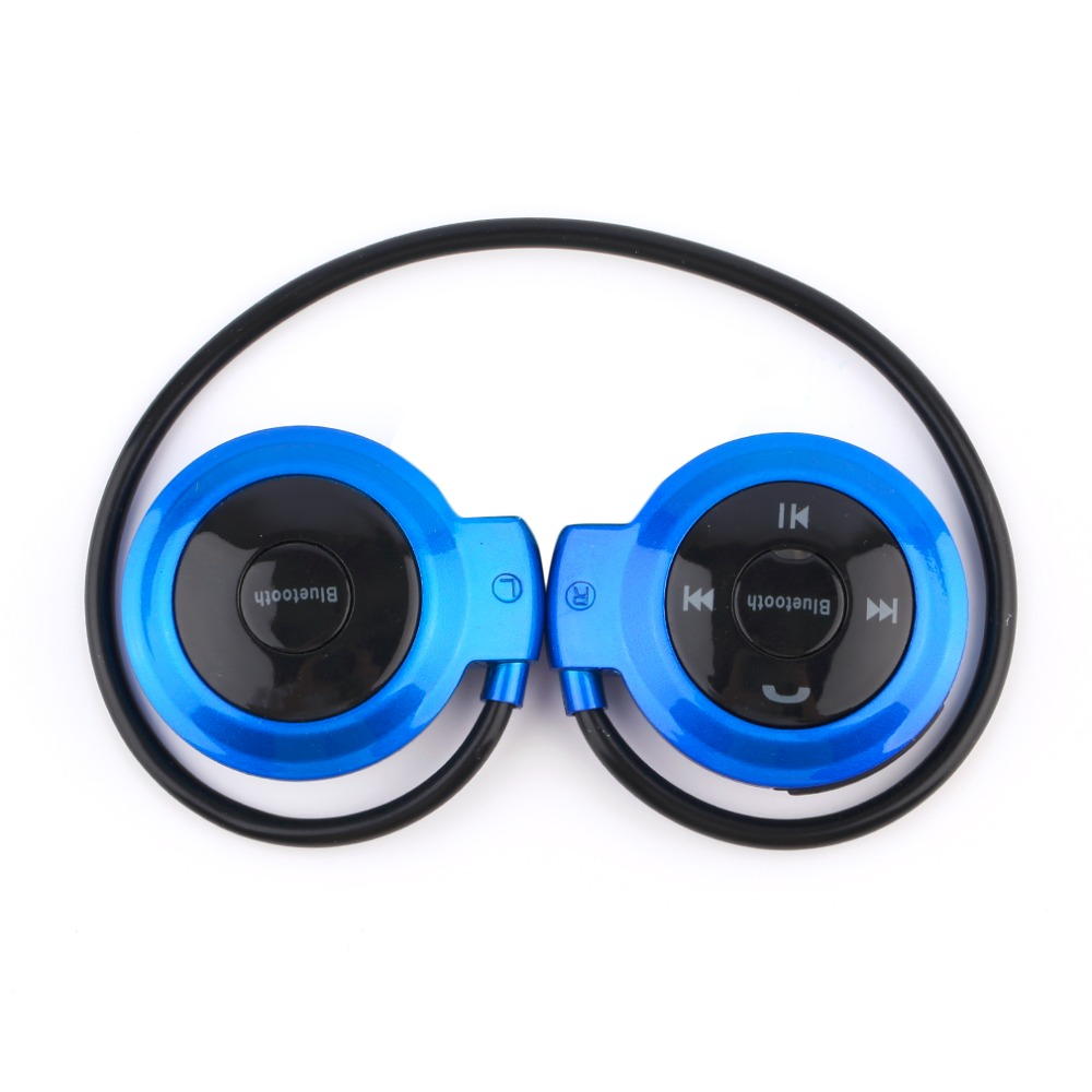 New Mini 503 Headphones Portable Neckband Sport Wireless Bluetooth Headsets Stereo Earphone Support SD/TF Card for Mp3 Player