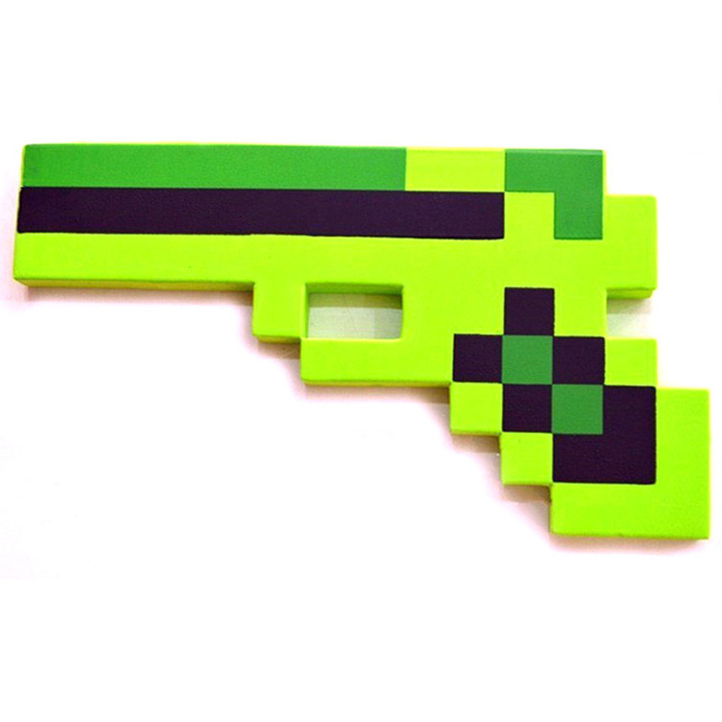 2017 New Minecraft Toys Minecraft Foam Diamond Gun Eva
