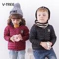 Niños Niñas Abajo Cubre la Chaqueta Moda Ultraligero Niños abajo Capa de Los Niños Abajo y Abrigos Esquimales Del Color Del Caramelo de Pato chaqueta